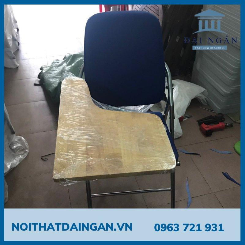 Ghế gấp chân inox mặt gỗ cao su GLB03