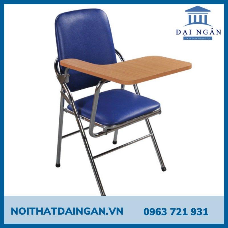 Ghế gấp liền bàn mặt gỗ cao su GLB04
