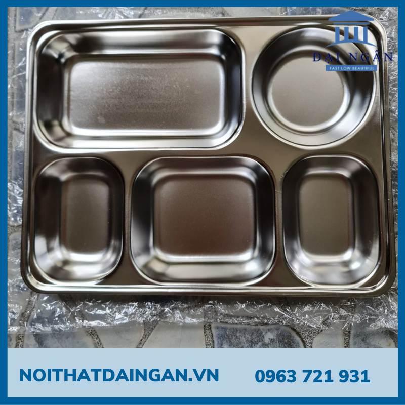 Khay chia cơm 5 ô sâu Inox 201 K03