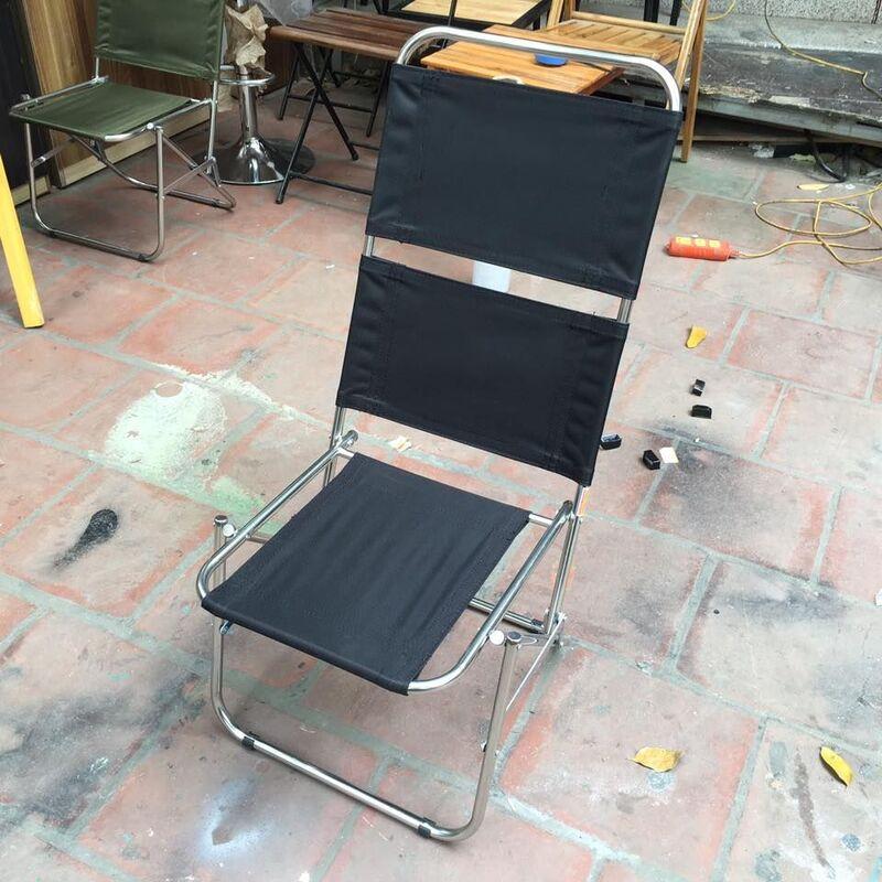Ghế bố xếp inox Cấu tạo đơn giản, dễ sử dụng